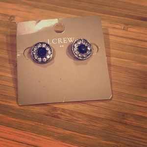 Jcrew factory gold, white and navy earrings. NWT